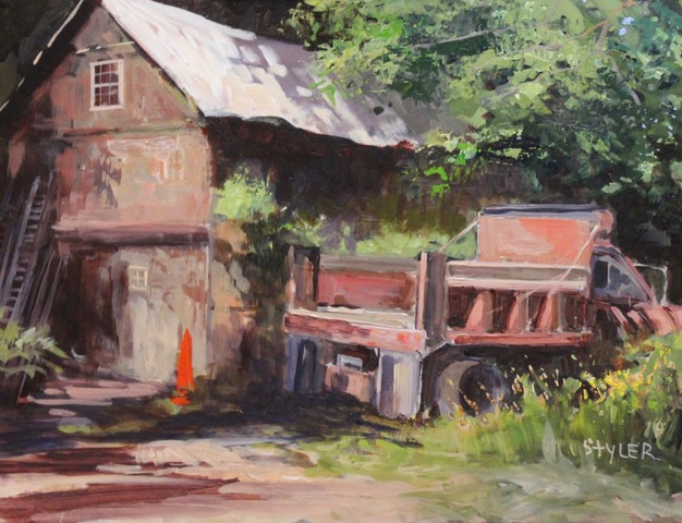 The Dumptruck 12x16 Acrylic