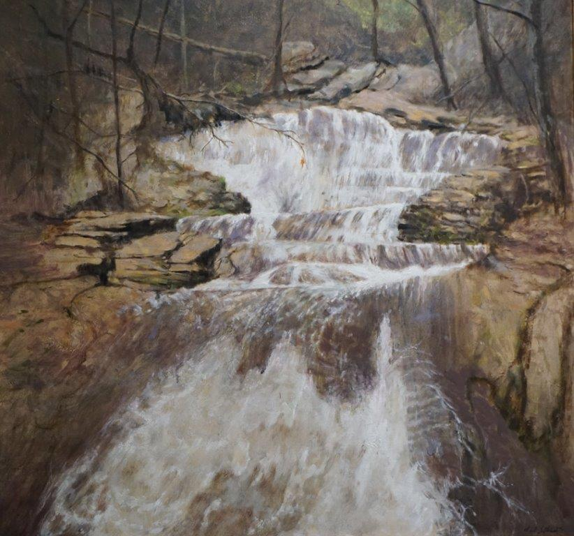 Falling Waters 36x36in oil