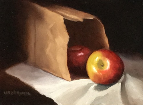 Apples 5x7 Oil