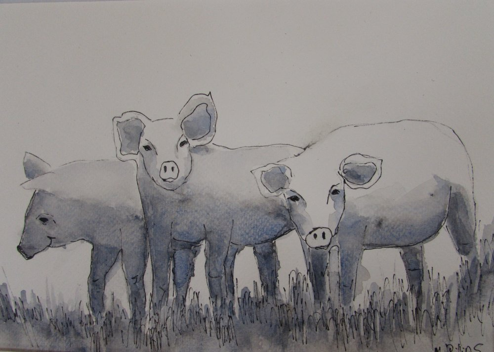 Pigs ink