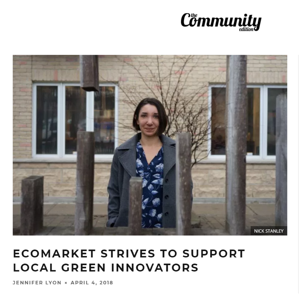 Here's an article Jen wrote about The Eco Market in the April edition of Community Edition.  Click here to read her article!