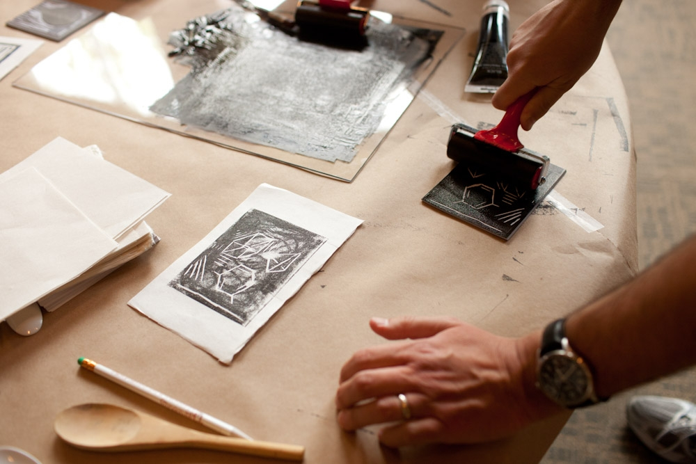 Printmaking for Adults Class at The Grand Center for Arts and Culture