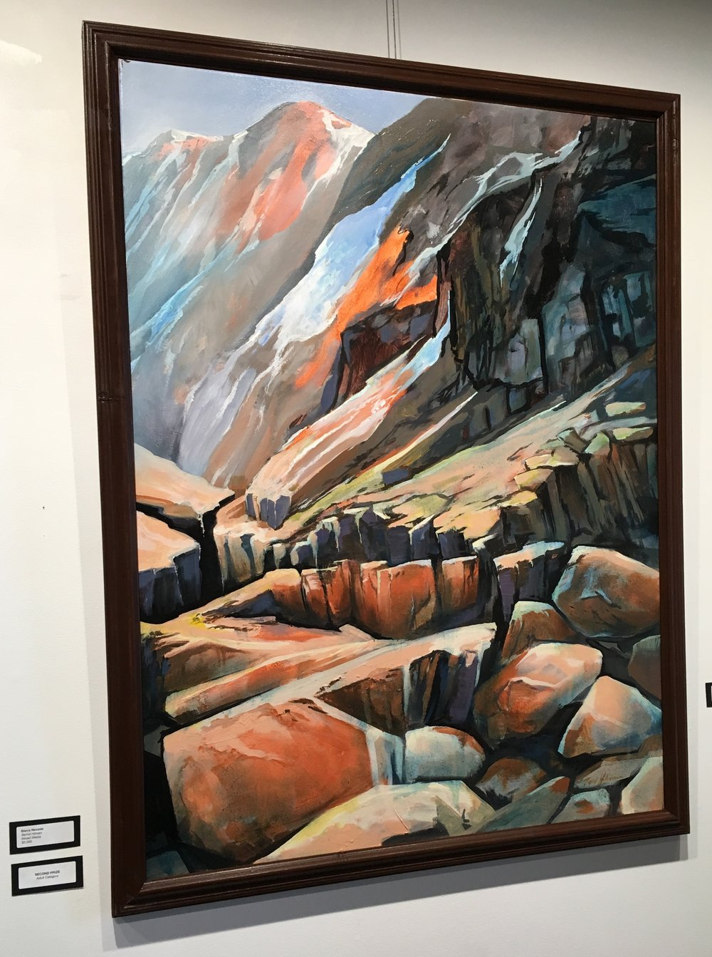 "Second Prize - $300  sponsored by STEVE VRANICH & TORI GRONHOLZ Bernd Hilman ""Sierra Nevada"""