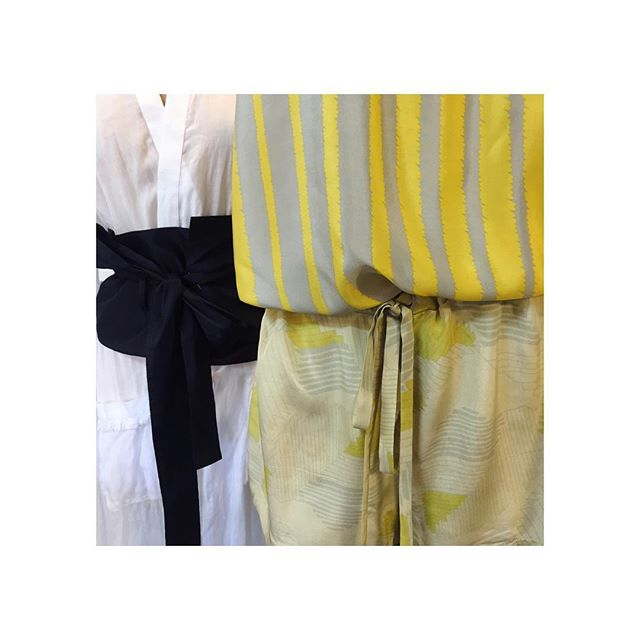 New fabrics in the works 💛💙💛 #resort2019 #blueoliveresort