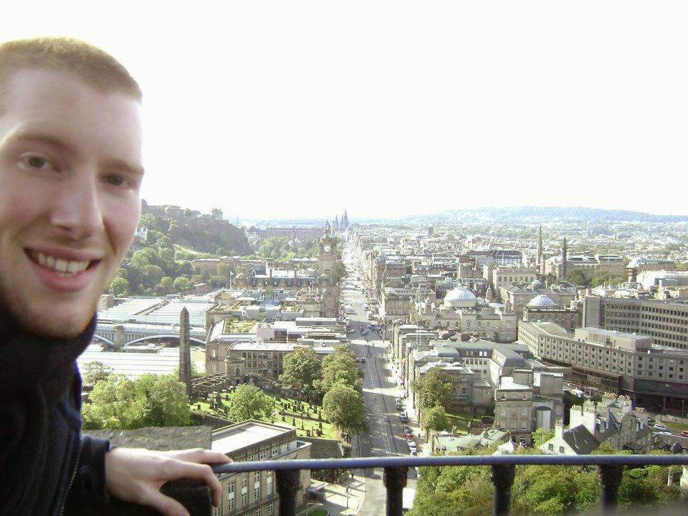 Edinburgh selfie circa 2007