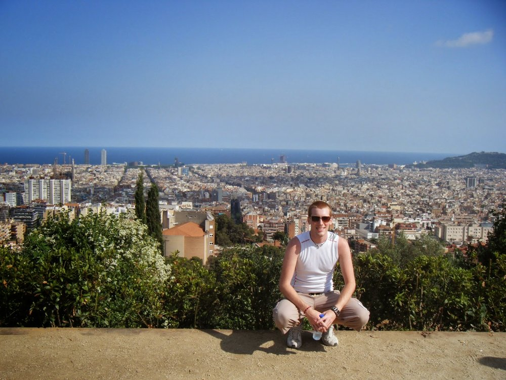 Overlooking the city of Barcelona circa 2008