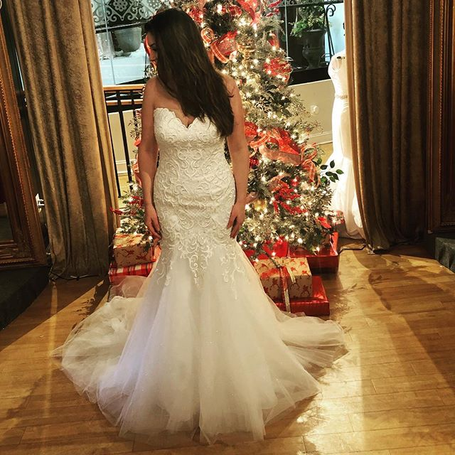 And Christmas has arrived....we can't love on this gown (Blair) enough! She arrived last night and she is all we have talked about! Since you all can't see it let me just tell you...there is SPARKLE all over this gown and throughout the tulle!!! Many more new girls to show you all so stay tuned! #avalaurenne #avalaurennebride #virginiabride #dcbride #richmondbrides #weddingdress