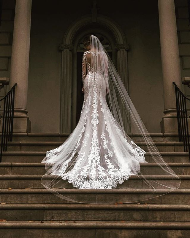 Y'all.... we're even more obsessed with this gown after seeing these photos taken by the amazing @kjlbphotography!! Shoutout to @justinalexander for being our fave designer 😍 we always love a killer train with amazing details like this! #justinalexander #justinalexanderbridal #jabride ##dcbride #richmondbride #weddinggowns #wedding #weddingdress #laceweddinggown #fredericksburgva #downtownfxbg