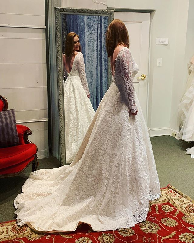 Sometimes you just have to put on a ballgown and feel like a princess!! Love getting new girls in the shoppe! #avalaurennebride #dcbride #virginiabride #richmondbride
