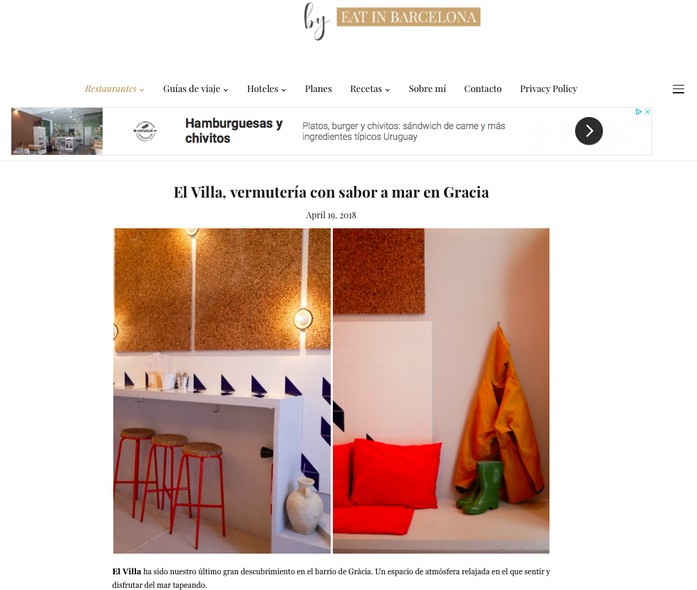 BARCELONA DIARIESBY EAT IN BARCELONA - EL VILLA FEATURED AT EAT IN BARCELONACLICK ON THE IMAGE TO FIND OUT MORE!