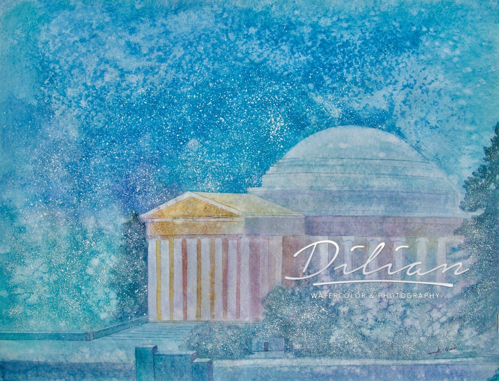 Wintry Jefferson Memorial