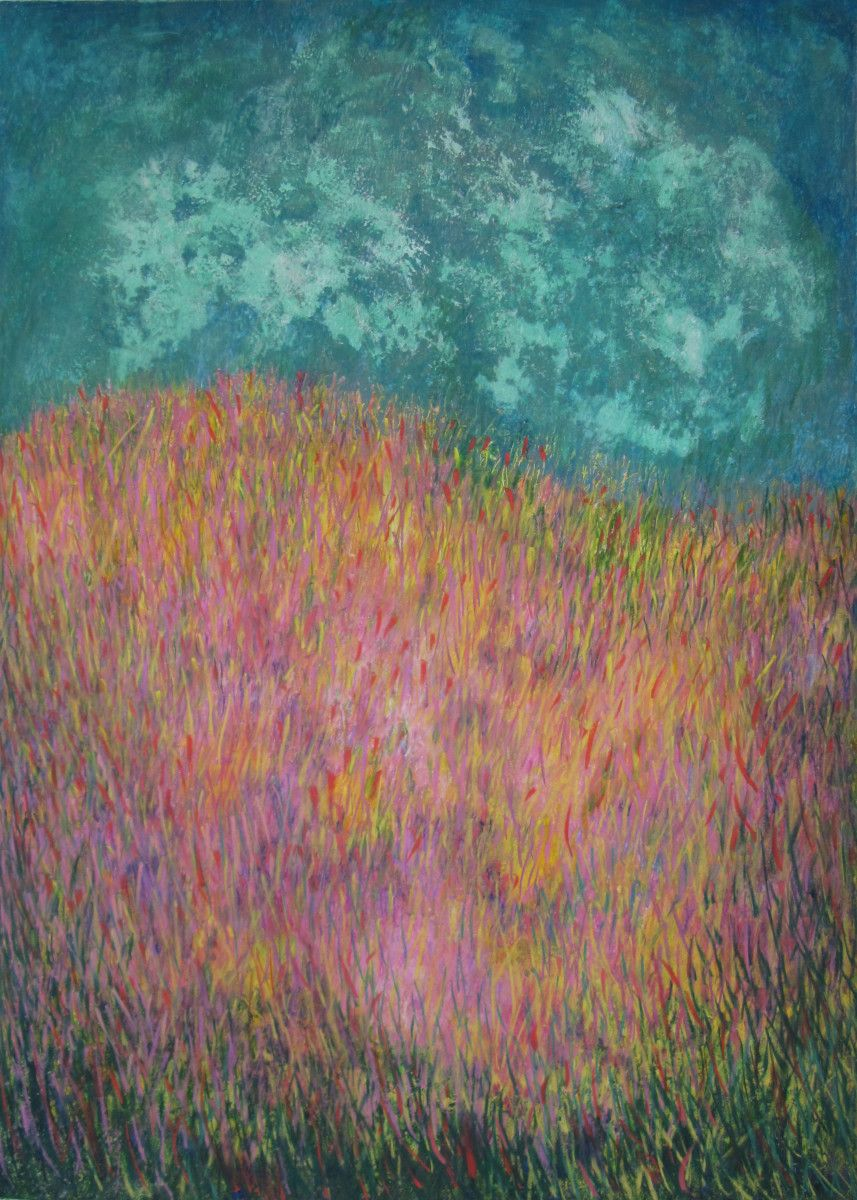 Maria Hughes. Celebration, Monotype. 28 x 20 in. SOLD.