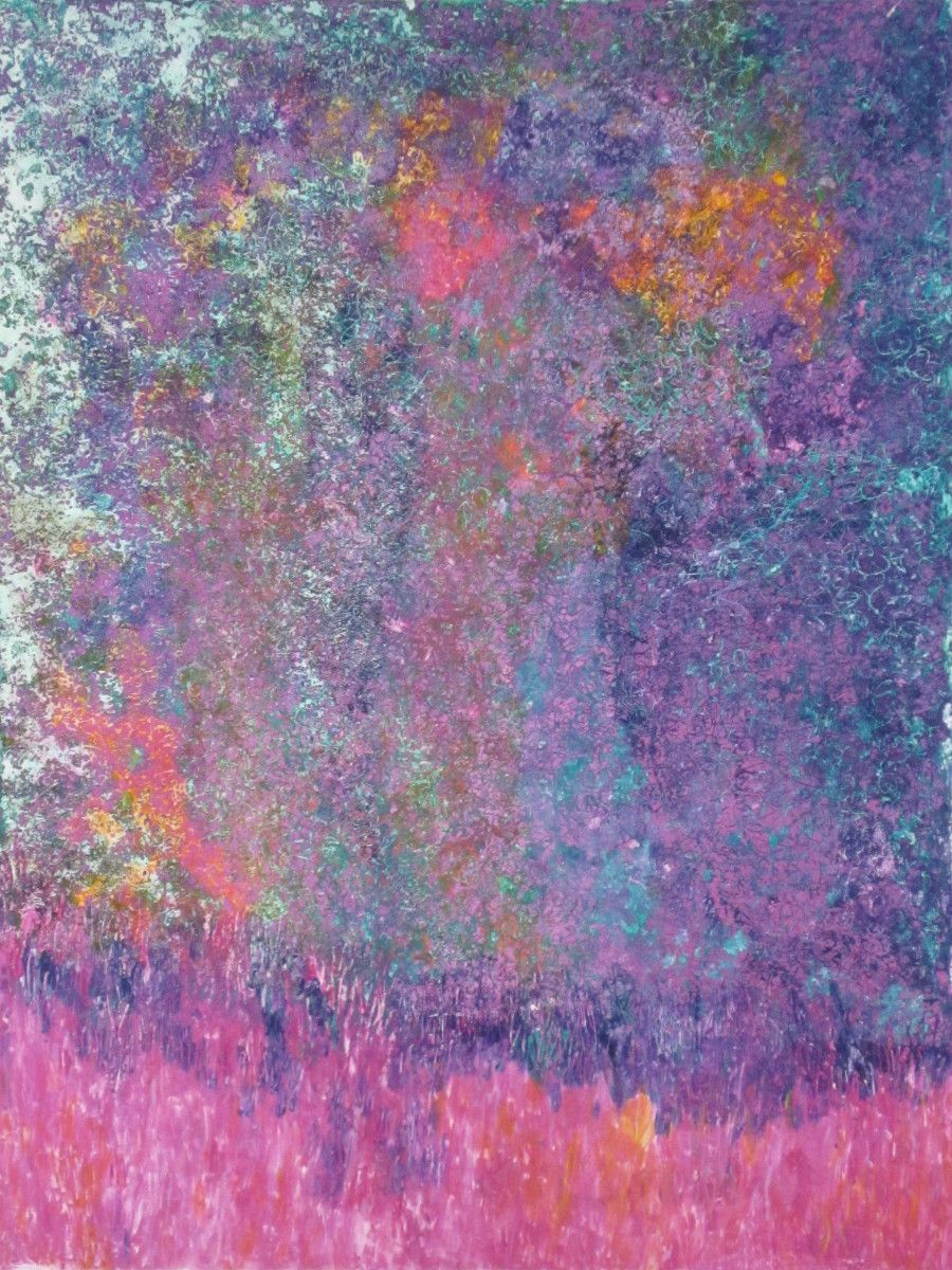 Maria Hughes. Magical Dream, Monotype, 24 x 18 in. SOLD.