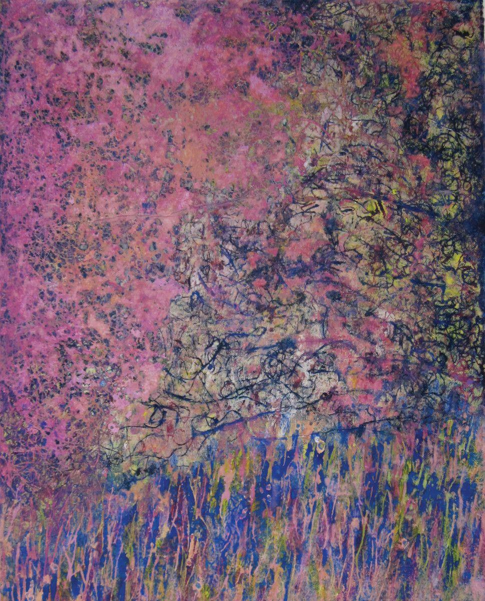 Maria Hughes.  Color de Rosa , Monotype, 20 x 16 in.