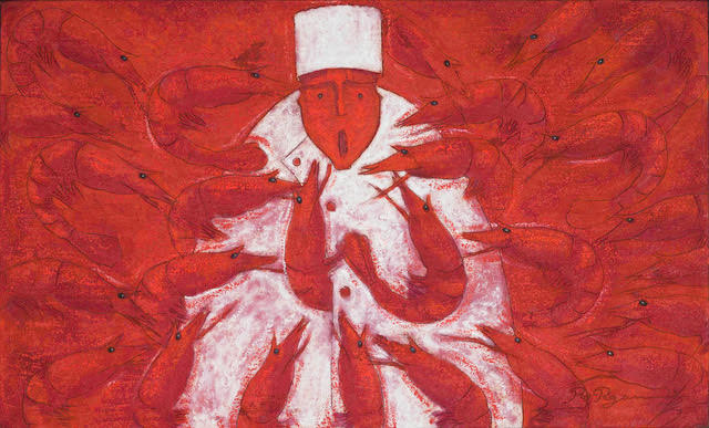Rolando Rojas,  A la Diabla , 2017. Marble Dust and Oil on Canvas, 23.6 x 39.3 in.