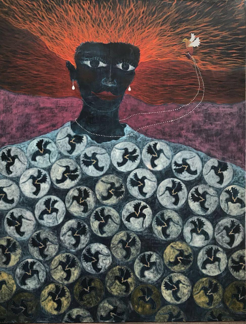 Saul Castro, Novia Afortunada (2018). 180 x 140 cm.