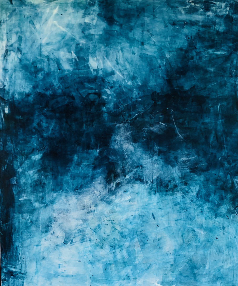 Valentina Atkinson, Night Song, 2018. Acrylic on Canvas, 72 x 60 in.