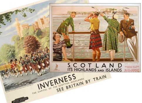 Vintage Scottish Higland Postcards