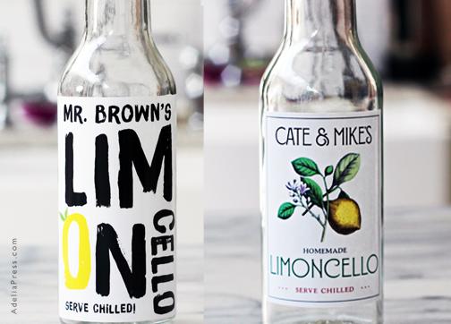 Personalzied Limoncello Labels from Adelia Press & Nancy Nikko