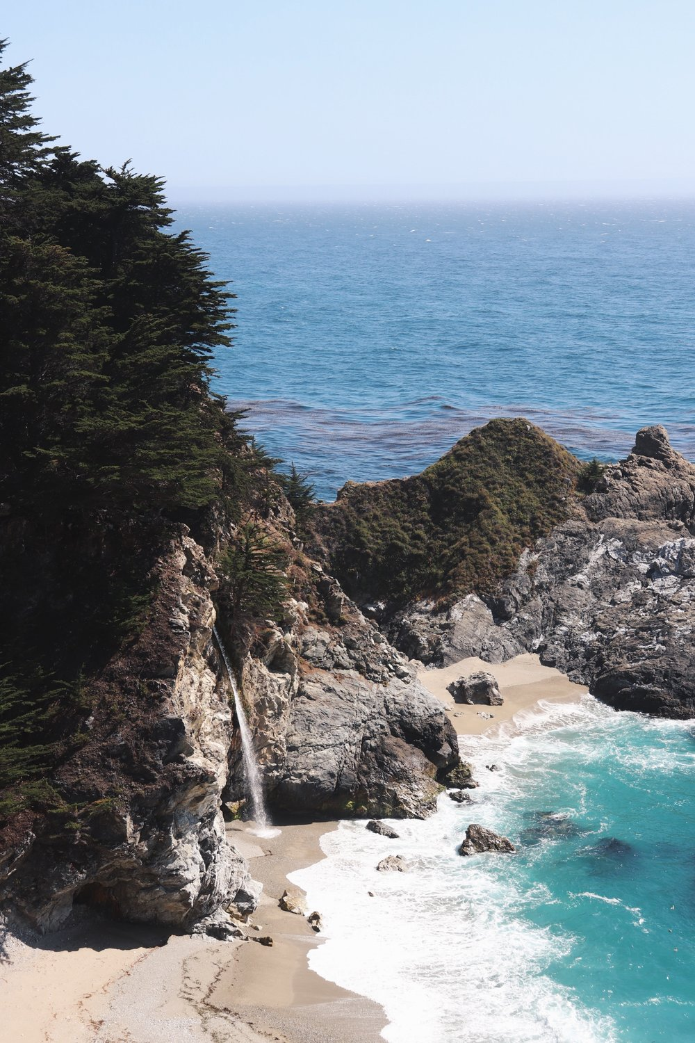 CA-1 - Do I have to explain why NorCal Highway 1 is the BEST drive in California? You've seen posters of it before- Julia Pfeiffer Burns State Park's McWay Falls- another one of God's glorious mystery that leaves me speechless. Old Bixby, and California's golden coast are other reasons why the CA-1 is the perfect drive for lovers and dreamers.Tip - Make sure to grab a drank or some yummy eats at Cafe Kevah in Big Sur for breathtaking views .