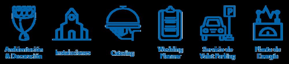 Fuente energía Iglesia instalaciones Catering Ambientación Decoración Valet Parking Gratuito Banquete Personal Wedding Planner
