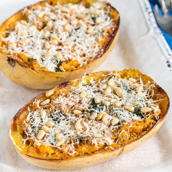 Sausage & Kale Squash Bowls by No Spoon Necessary