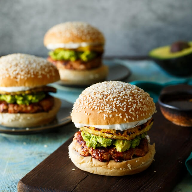 Grilled Teriyaki Turkey Burgers by Shared Appetite