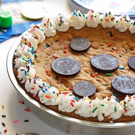 Gelt Cookie Cake