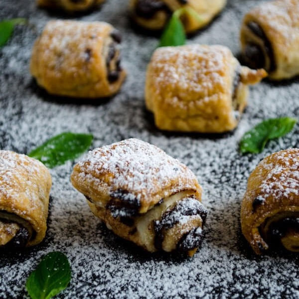 Chocolate Puff Pastry Rolls