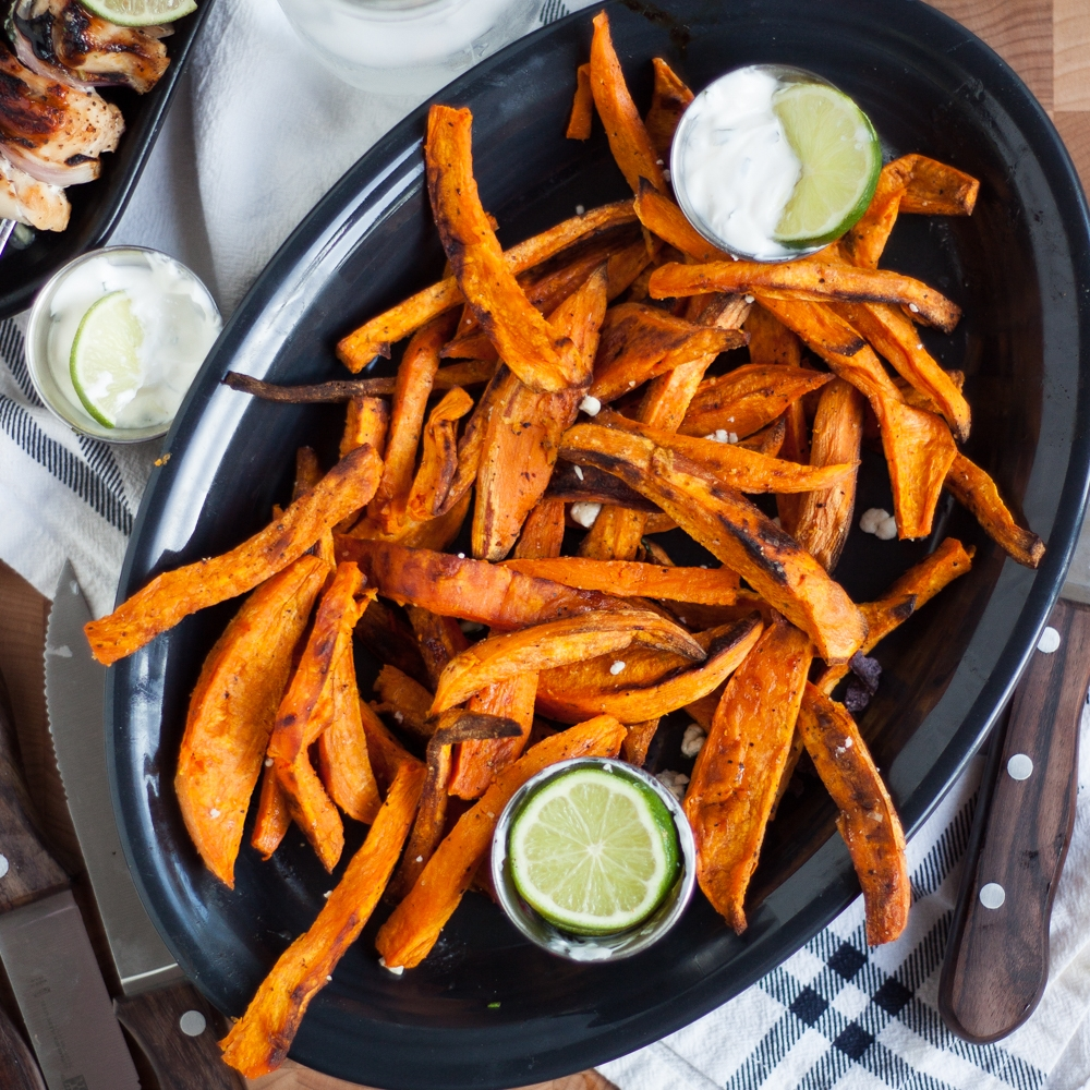 Sweet Potato Fries & Cilantro Dipping Sauce