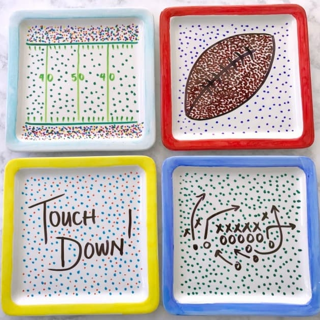 DIY Game Day Plates