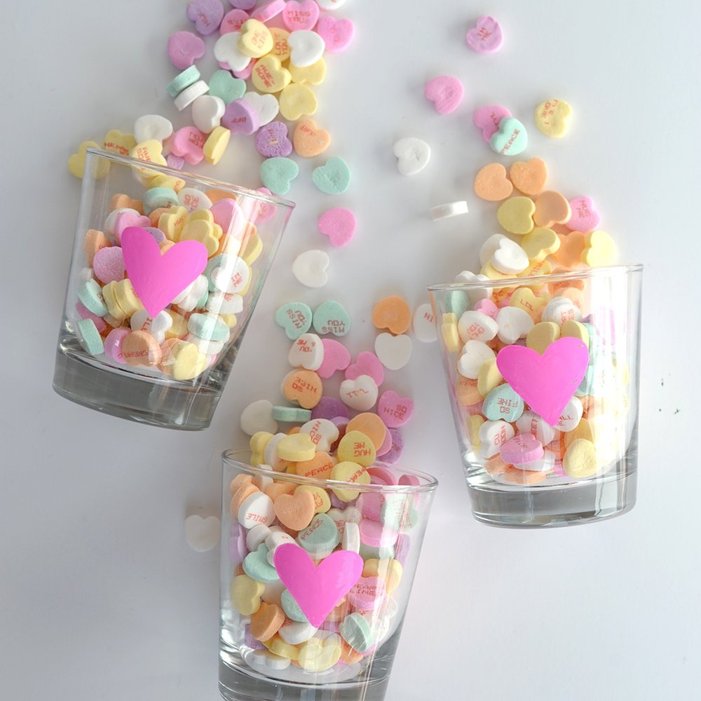 DIY Valentine's Day Party Glasses