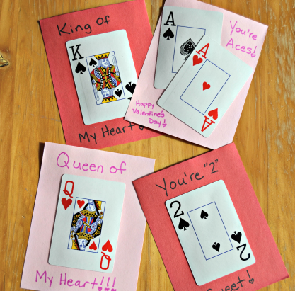 DIY Playing Card Valentines