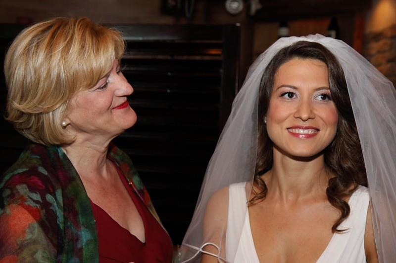 Aysegul, with her mother, on her wedding day.