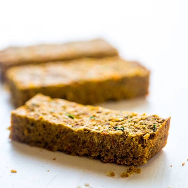 Homemade Protein Bars w. Hidden Veggies