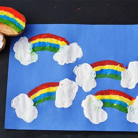 Rainbow Potato Prints