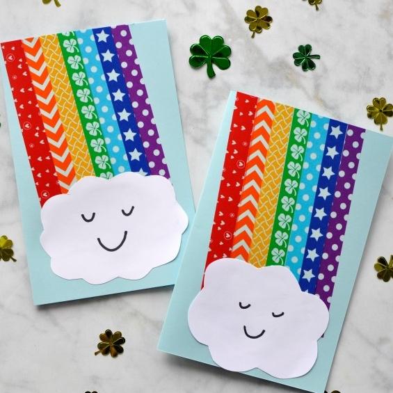 DIY Rainbow Washi Tape Craft