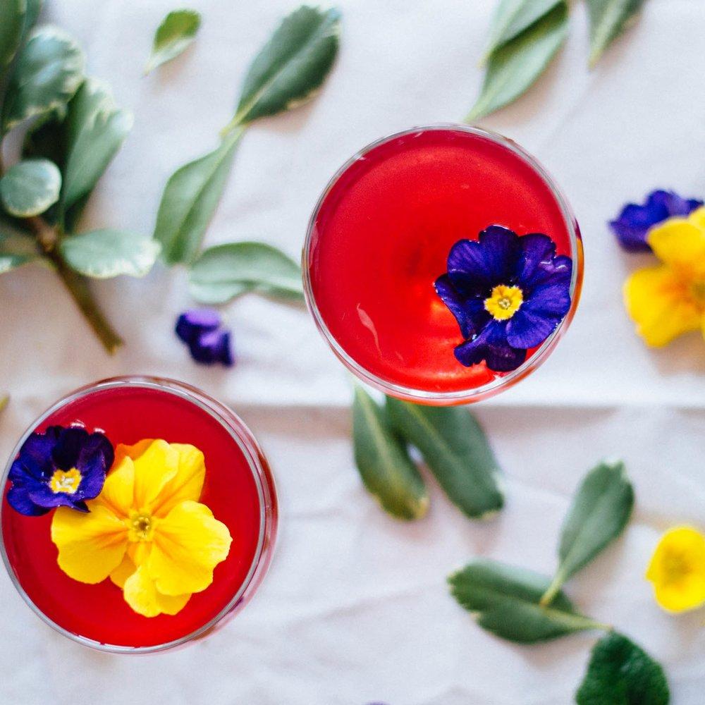 Hibiscus Gin Gimlet