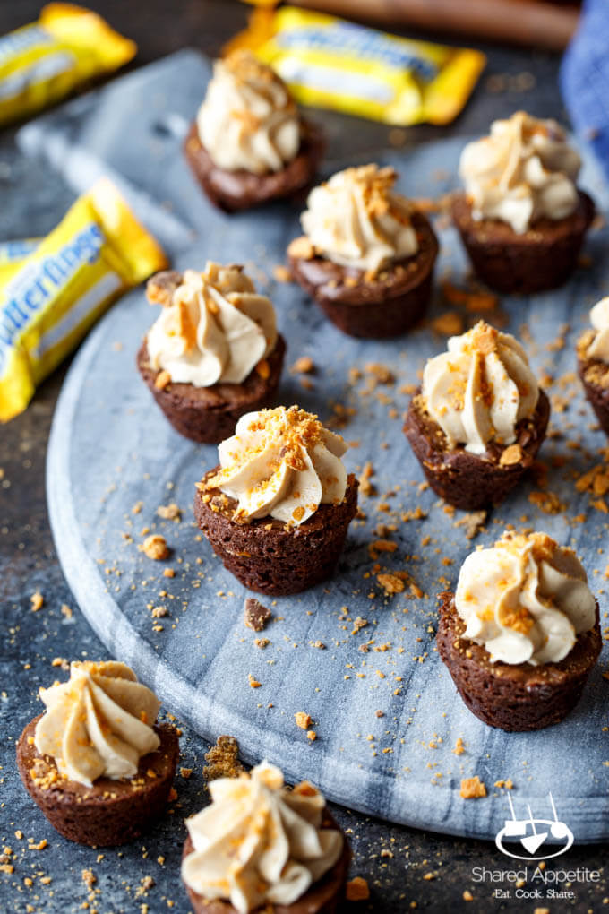 In partnership with Butterfinger |    Butterfinger Cheesecake Brownie Bites