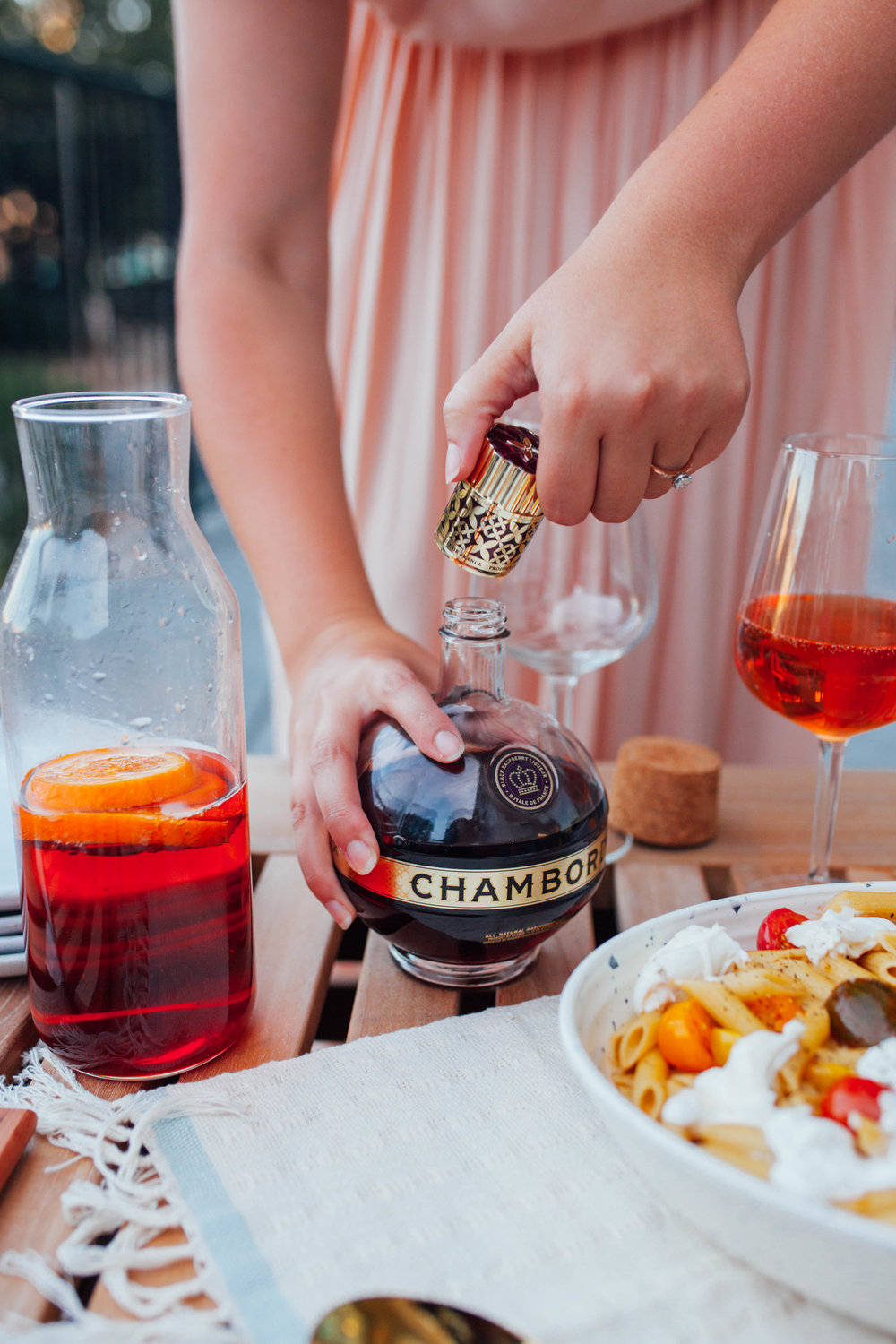 In partnership with Chambord   Al Fresco Dinner for the Gals