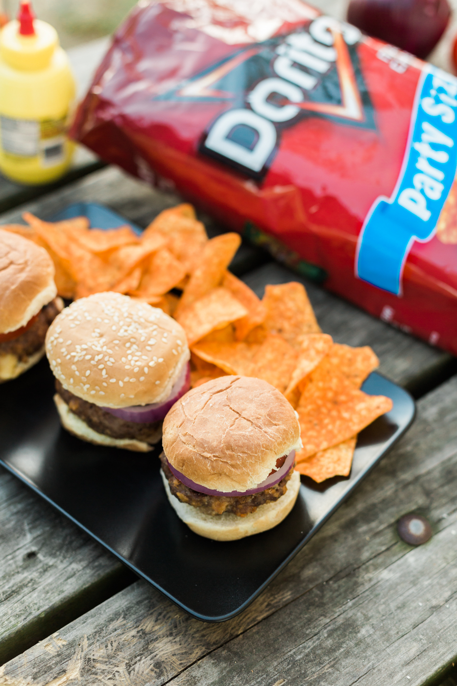 In partnership with Frito-Lay |   Doritos Three Cheese Stuffed Sliders