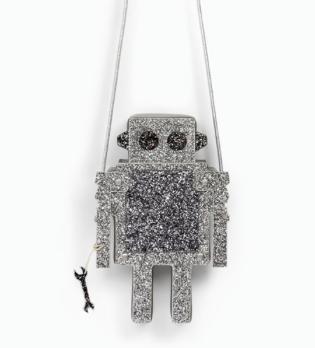 zara//robot handbag