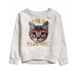 h&m//kitty sweatshirt