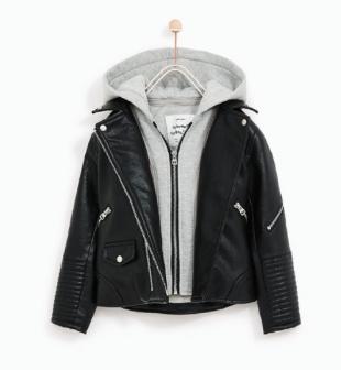 zara//girls leather jacket