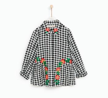 zara//plaid shirt