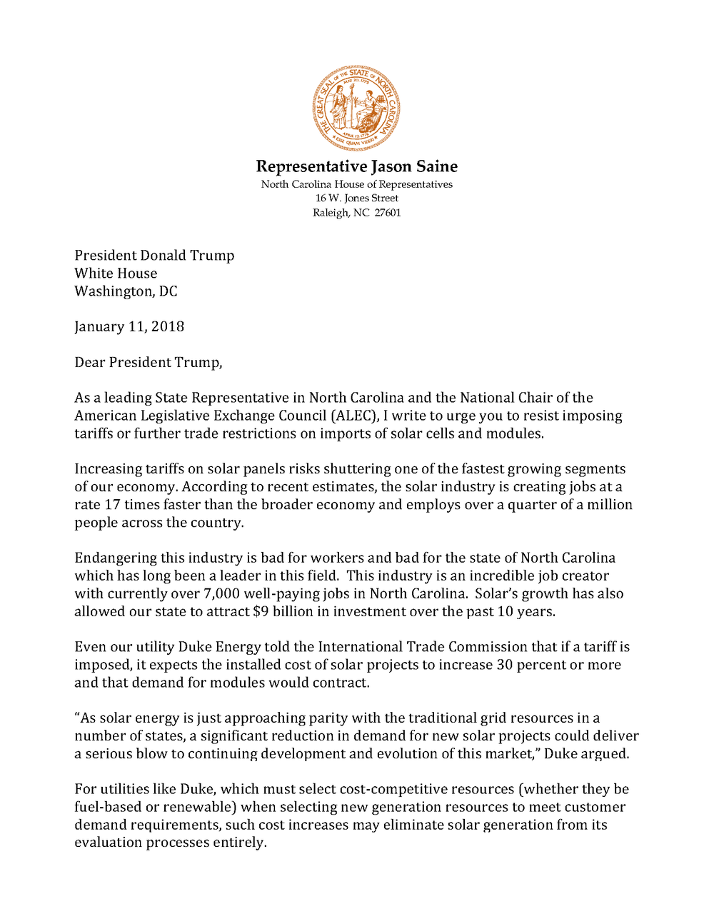 Rep Saine Solar Letter to POTUS_Page_1.png
