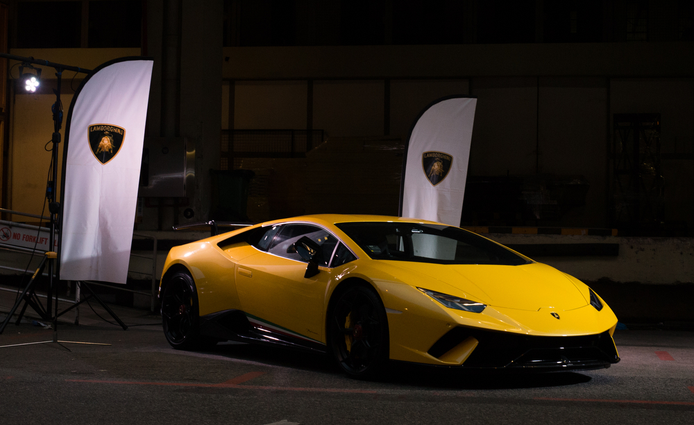 Launch of the Lamborghini Huracan in Singapore