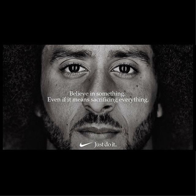 This has stirred so much emotion and inspiration inside of me!!! Thank you @nike and @kaepernick7 W/❤️ a young black entrepreneur! #Nike #colinkaepernick #determination #inspirationalquotes #theworldiswaitng