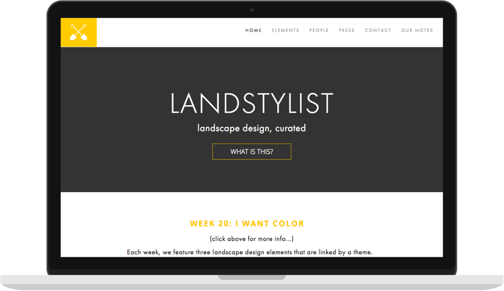 Landstylist - I the the UX, UI and Squarespace build for Landstylist, which is a website for curated landscape design.