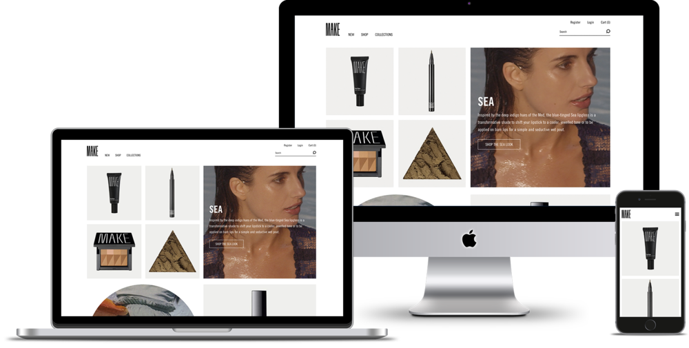 MAKE Beauty - I did UX work for MAKE, which is multi-functional makeup and skin care designed for creative self-expression and personal experimentation.